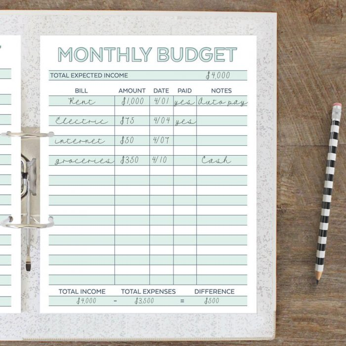 Free Printable Monthly Budget Planner Worksheet – Budget Planner Worksheet