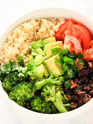 Easy Buddha Bowl Vegan - Vegan Buddha Bowl Recipe - Buddha Bowl Vegetarian - Burrito Bowl Healthy - Quick and Easy Dinner - Plant Based Diet for Beginners - 10 Minute Meals Healthy