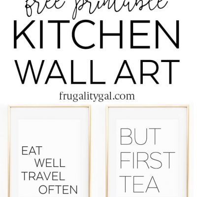 Free Printable Kitchen Wall Art, 8×10″