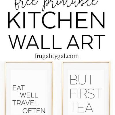 Free Printable Kitchen Wall Art, 8×10″