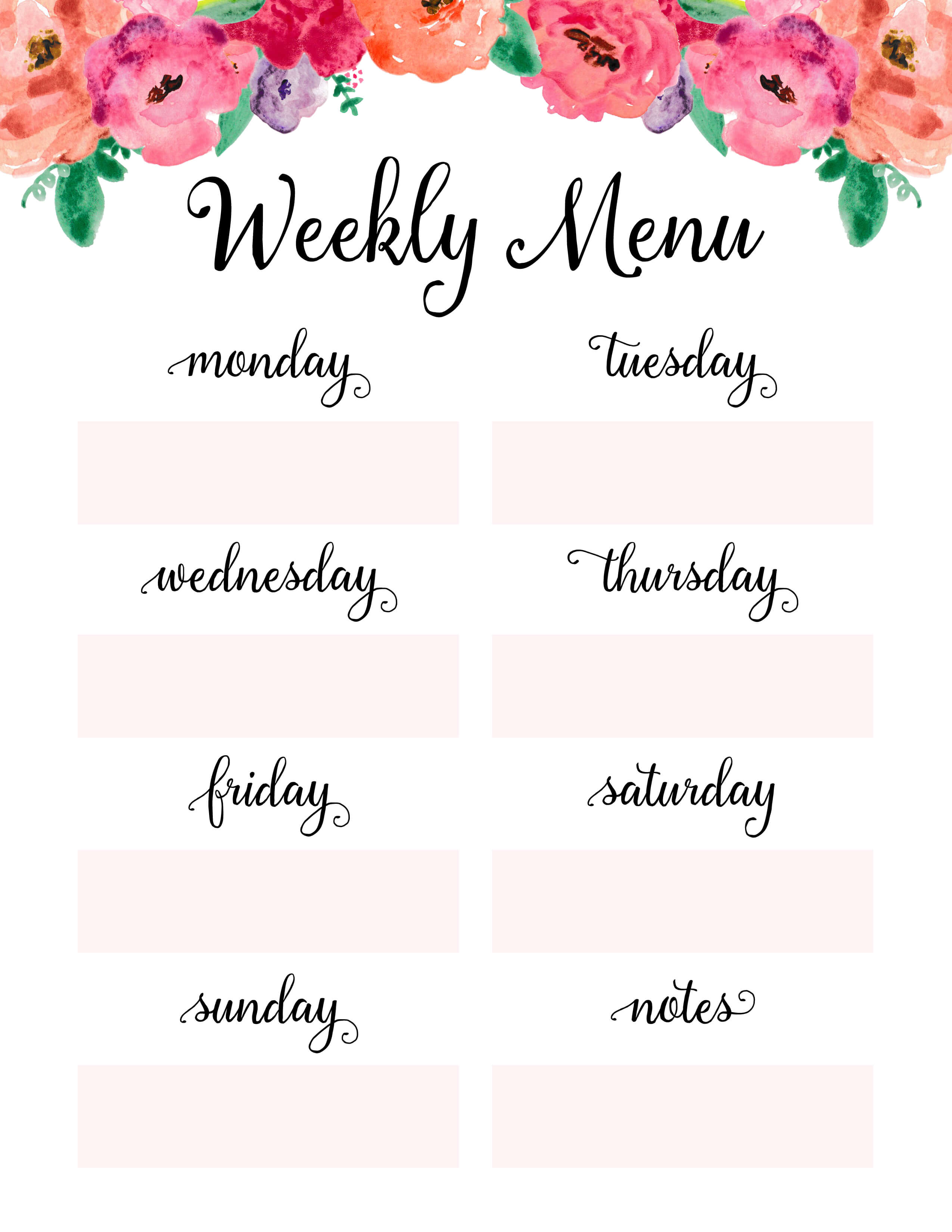 picture about Weekly Menu Printable known as Weekly Supper Planner - Period Command Suggestion - Absolutely free Printable
