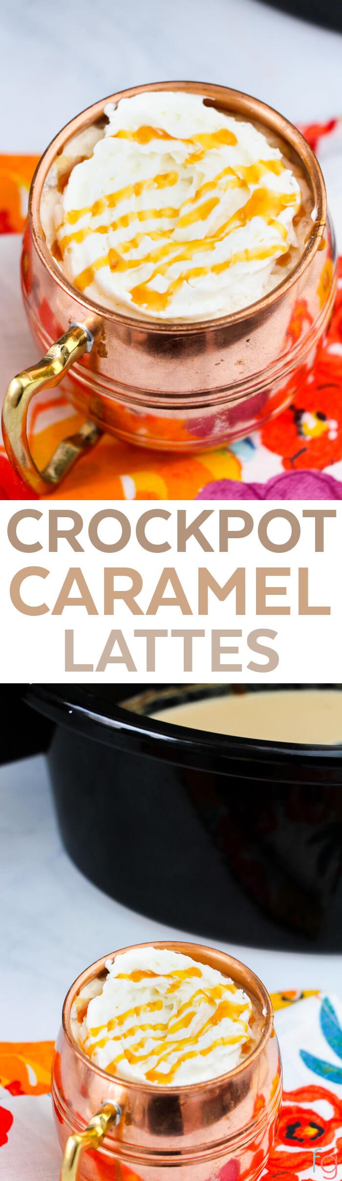 Crockpot Caramel Latte - Crock Pot Latte Recipes - Crockpot Latte - Slow Cooker Drink Recipes - Slow Cooker Recipes - Crockpot Recipes - Homemade Starbucks Recipes - Brunch Ideas - Brunch Recipes