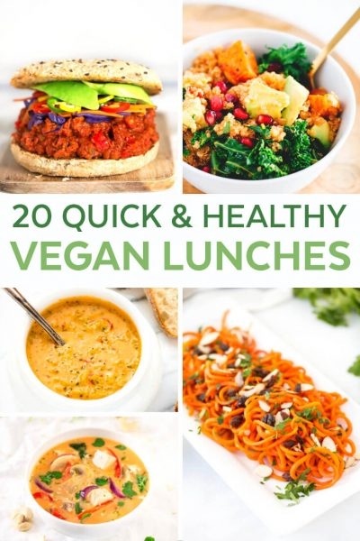 Vegan Recipes Easy - Healthy Recipes Easy - Vegan Lunch Ideas for Work - Vegan Lunch Easy - Healthy Lunch Ideas for Work - Lunch Recipes Healthy - Quick Easy Vegetarian Recipes