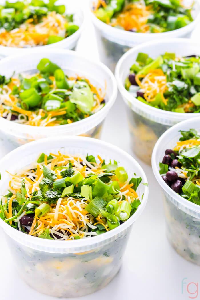 Make Ahead Breakfast Bowls Meal Prep - Breakfast Meal Prep for the Week - Breakfast Meal Prep Healthy - Vegetarian Meal Prep Recipes for Beginners Meal Prep Ideas -Make Ahead Mexican Breakfast Bowls