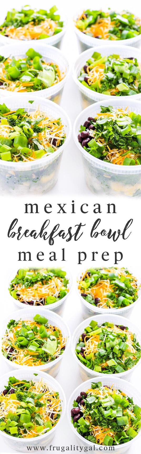 Make Ahead Breakfast Bowls Meal Prep