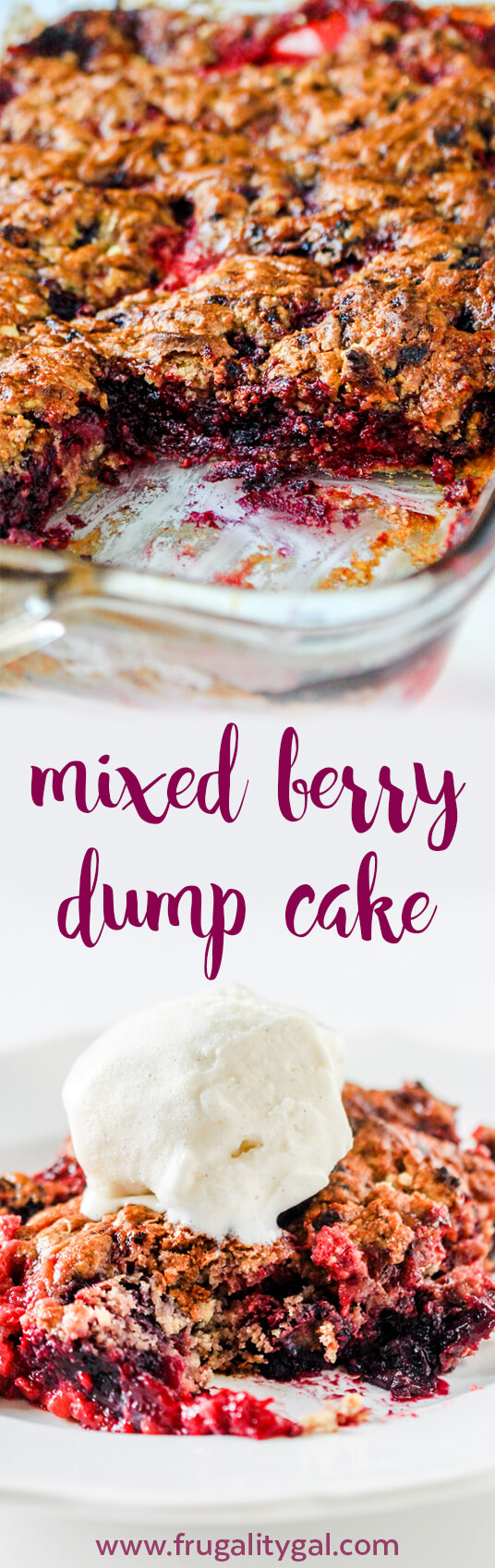 Mixed Berry Dump Cake Recipe