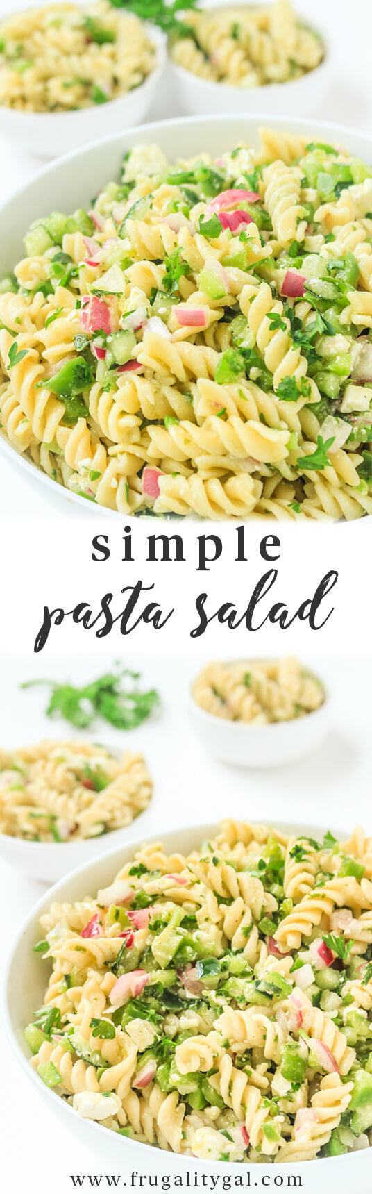 Easy Pasta Salad Recipe - Cold Pasta Salad Recipes Cold - Potluck Recipes - Pasta Recipes Easy - Vegetarian Recipes Easy - Italian Recipes Pasta Salad