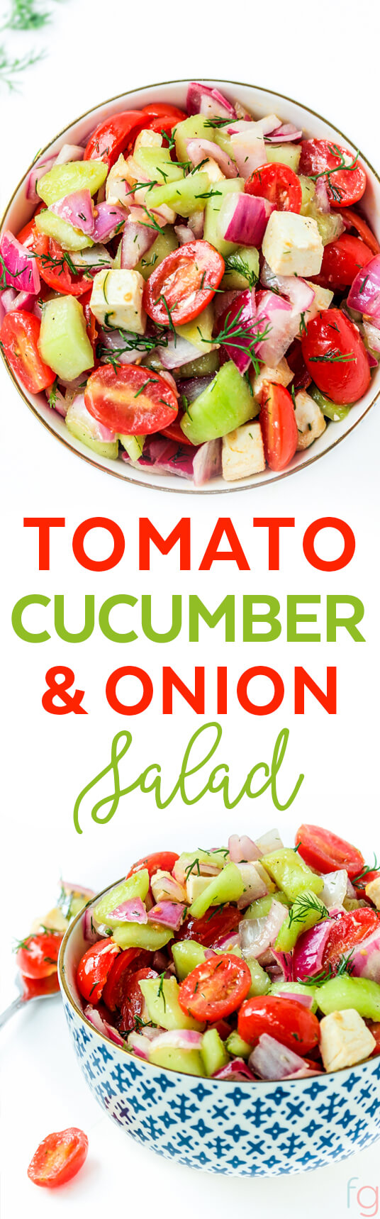 Tomato Cucumber and Onion Salad Vinegar - Tomato Cucumber Salad - Tomato Salad - Tomato Onion Cucumber Salad - Summer Salad Recipes Healthy - Salad Recipes for a Crowd - Vegetarian Recipes