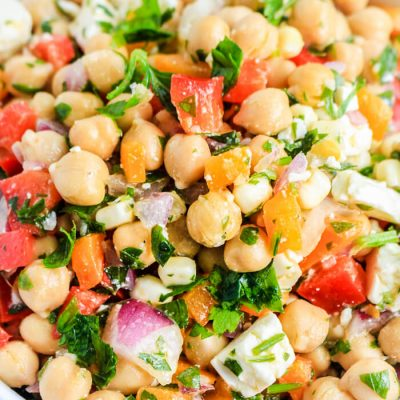 Rainbow Chickpea Salad Recipe
