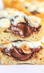 Nutella Smores Cups Recipe - Nutella Desserts Easy - Nutella Recipes Easy Desserts - 3 Ingredient Desserts Easy - Smores Desserts Easy - Nutella Cups - Nutella Crescent Roll Recipes - Chocolate Desserts Quick - Smores Crescent Rolls