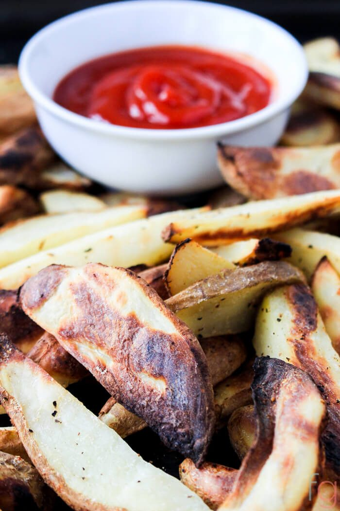 Crispy Baked French Fries | Easy Potato Wedges Baked Crispy | Potato Wedges Recipe | Oil Free Vegan Recipes | Appetizers Easy