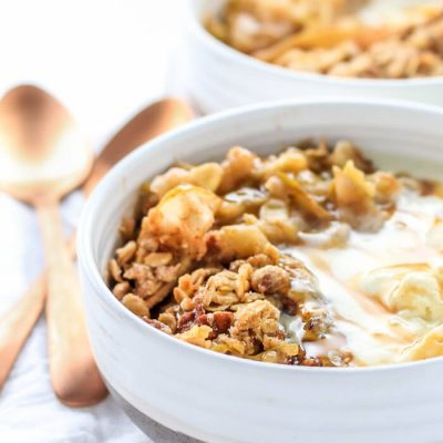 No Peel Apple Crisp Recipe