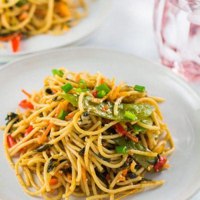 Homemade Vegetarian Lo Mein