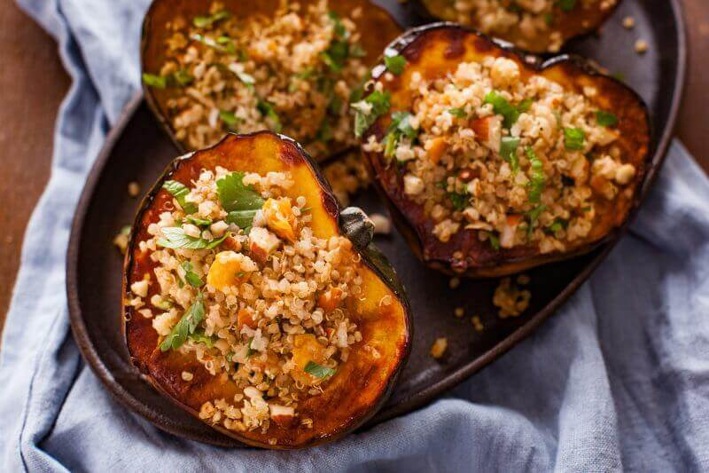 Vegan Stuffed Acorn Squash - 20 Vegan Dinners You Should Make Tonight