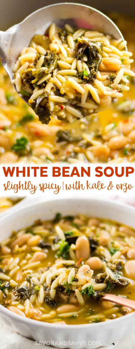 This White Bean Soup is simple, hearty and ready in under an hour.