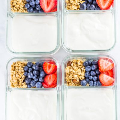Breakfast Parfait Meal Prep