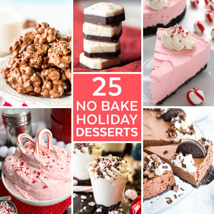 25 No Bake Desserts for the Holidays - These easy holiday desserts will have you whipping up holiday treats with no time spent baking!