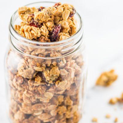 Cranberry Peanut Butter Granola