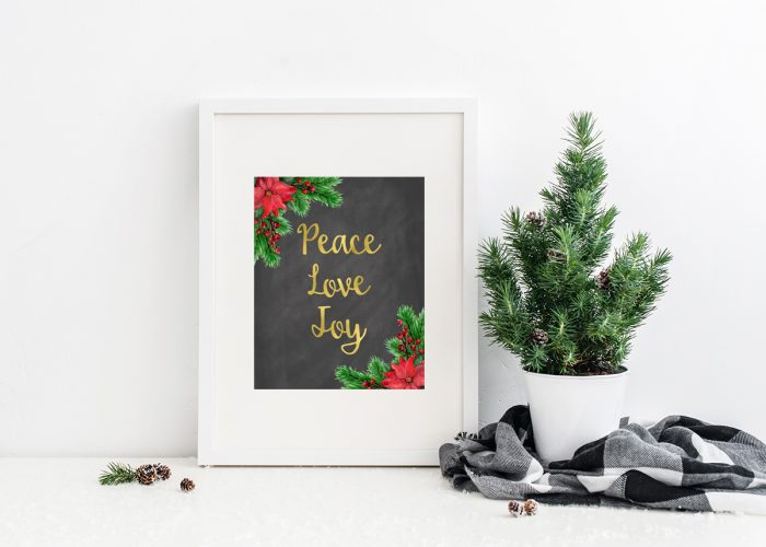 Free Christmas Printables - If you're looking for budget Christmas decor ideas, these free Christmas art prints are a great way to decorate for the holidays for free!