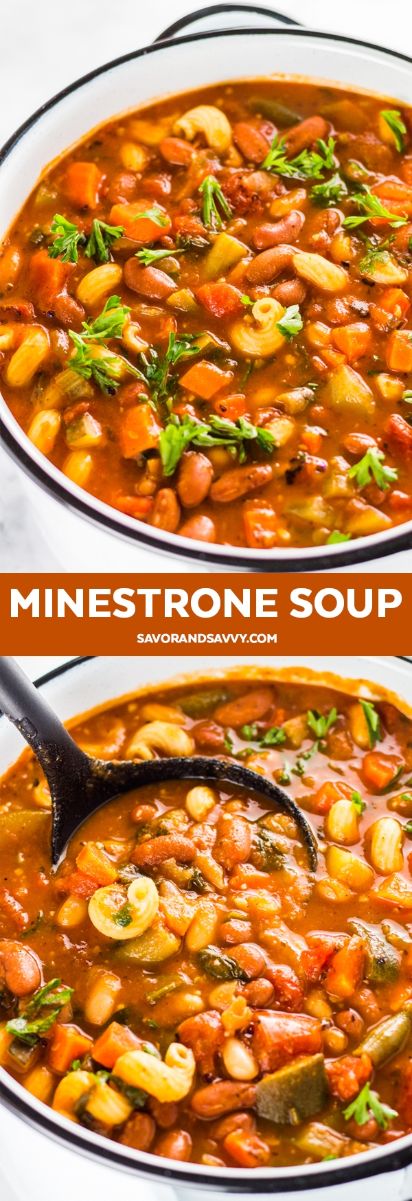 Make this easy vegan minestrone soup recipe that's the perfect fall or winter soup! Add this easy soup recipe to your winter dinner meal plan. It'll become one of your go-to easy dinner recipes this season.
