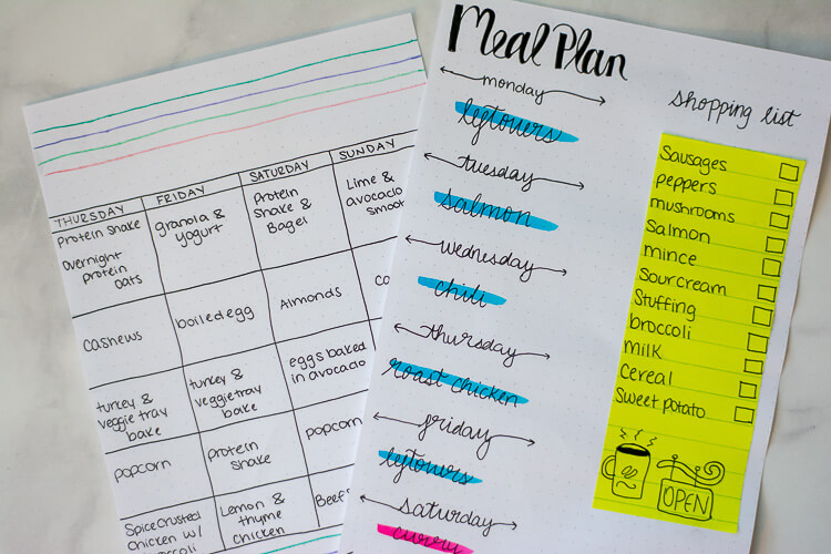 Use Sticky Notes to Create Removable Grocery Lists and Reuse Your Bullet Journal Pages