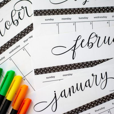 2019 Free Printable Calendar and Template
