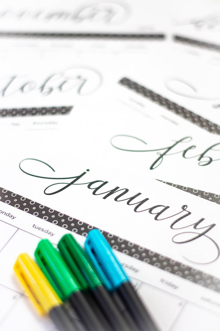 Free Printable Calendar and Template for 2019