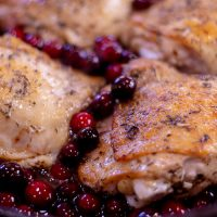 One Pan Cranberry Chicken Thighs Recipe
