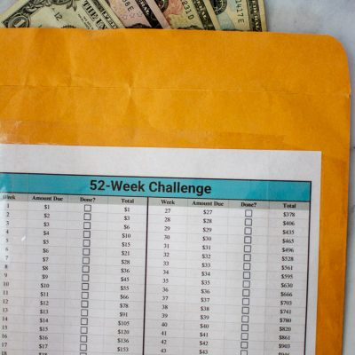 52 Week Money Challenge – Free Printable to Save $1,378 in One Year!
