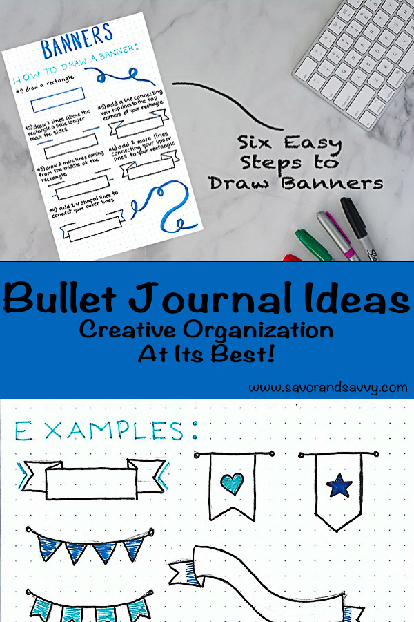 BuJo Ideas for Excellent Organization - Bullet Journaling at its best. Several creative ideas on how to use bullet journals to add some sanity to your busy life! #BuJo #Organization #BulletJournal