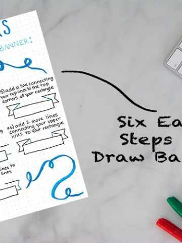Six Steps to Draw a Bullet Journal Banner