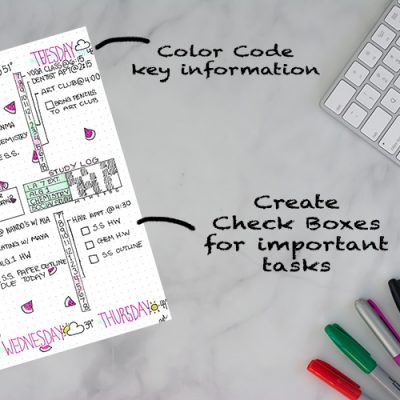 Bullet Journal Spread Ideas for School