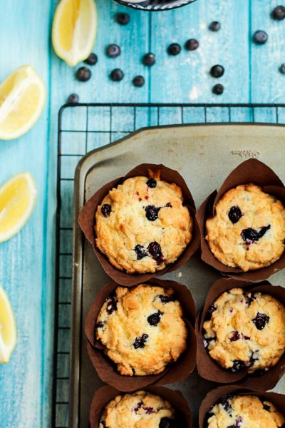 Blueberry Lemon Muffins with a Crumbly Streusel Topping