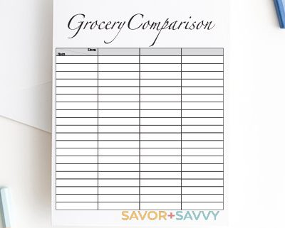 My Shocking Grocery Store Comparison Savings – Free Printable