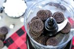Oreo cookies in the food processor