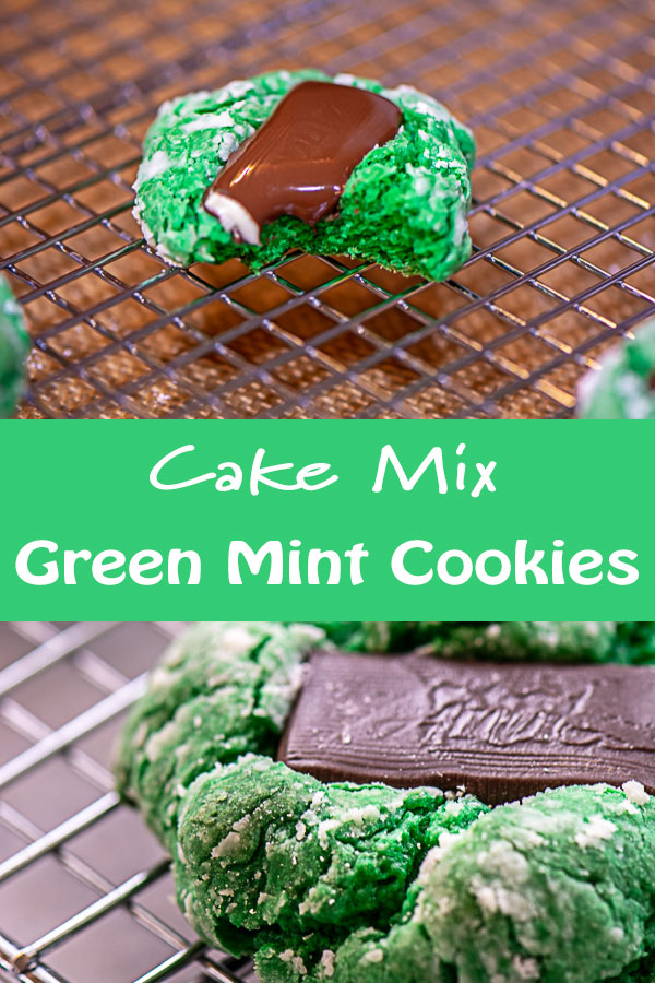Mint Green Cookies Made with Cake Mix