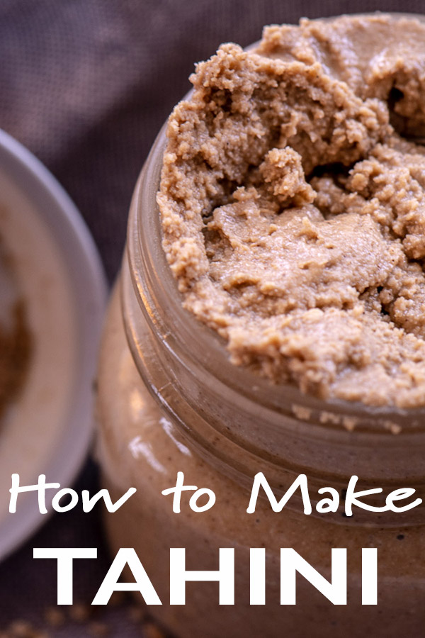 Homemade Tahini made from two ingredients. Easy steps on to how to make tahini #tahini #vegan #vegetarian #frugal #HowToMakeTahini #HomemadeTahini