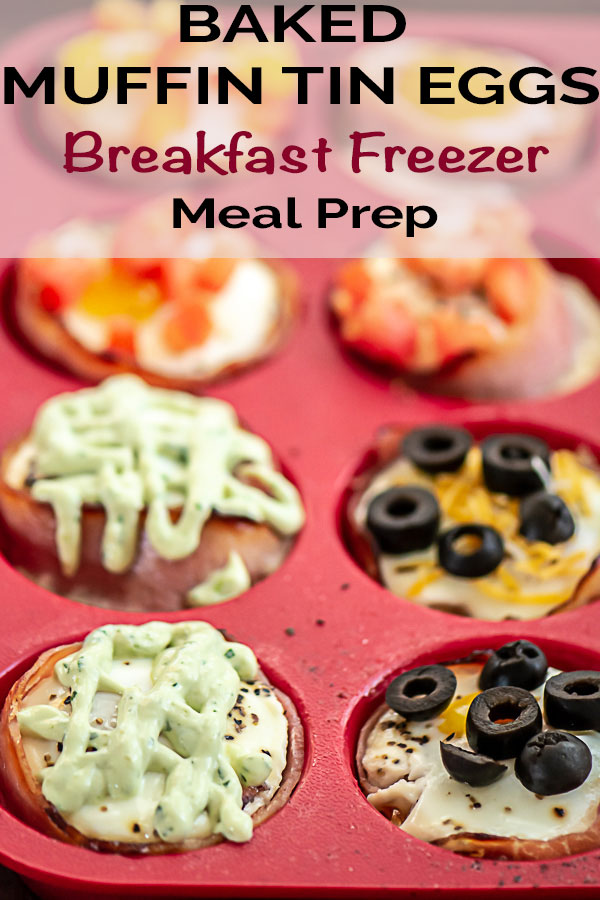 Freezer Breakfast Meal Prep Made Easy with these Baked Egg Cups in Muffin Tins with Hame and Vegetables #MealPrep #FreezerMeal #Breakfast #BreakfastMealPrep #MakeAheadMeal #BakedEggs #Eggs #MuffinTinMeals