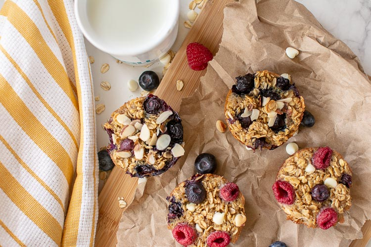 Different toppings on the are fun with berries or fruits in the house