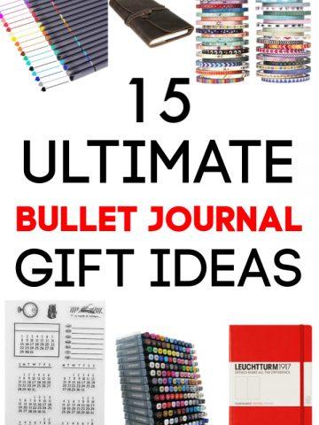 Ultimate Bullet Journal Gift Guide for BuJo Fans #BuJo #BulletJournal #GiftGuide
