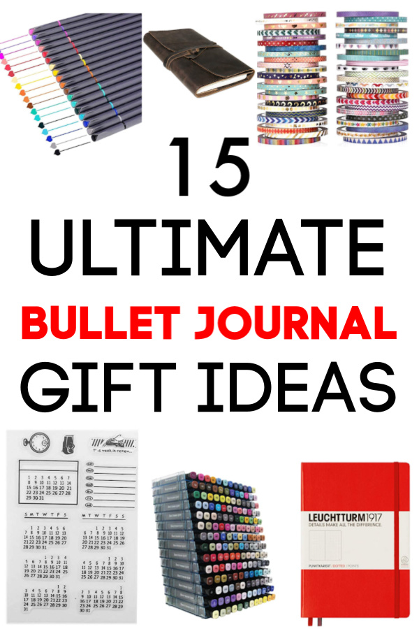 Ultimate Bullet Journal Gift Guide for BuJo Fans #BuJo #BulletJournal #GiftGuide