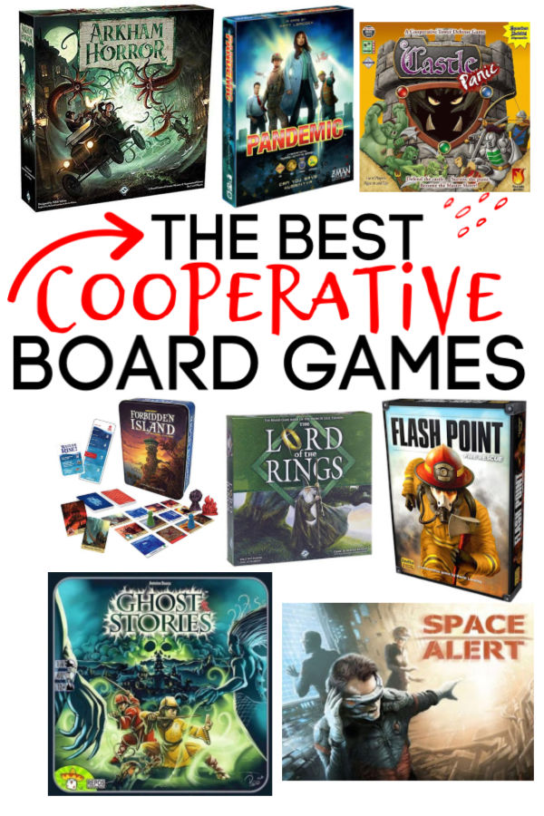 The Best Cooperative Board Games. Play together and win together! #boardgames #cooperativeboardgames #pandemic #frugal #fun
