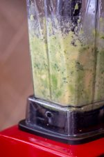 Add the avocado and other ingredients to the blender and pulse