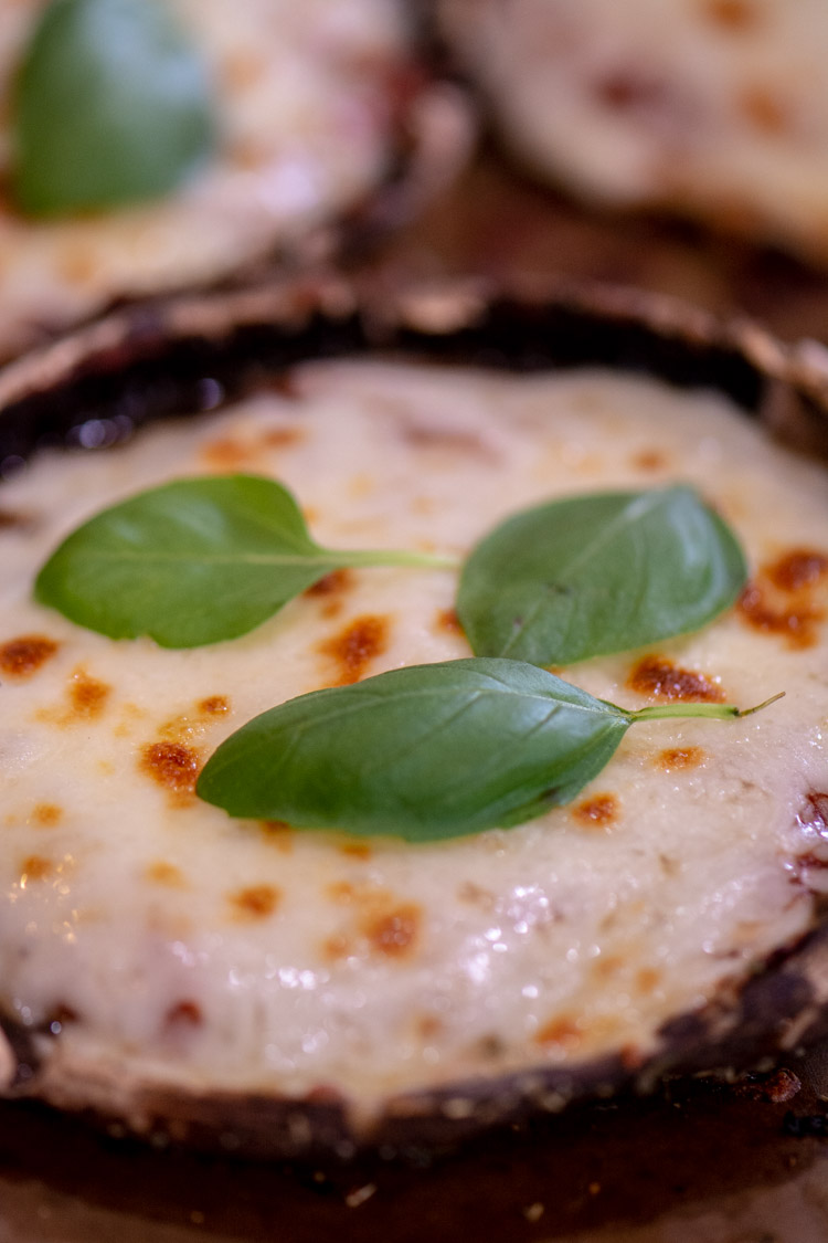 You won't miss the bread dough crust on this Portobello Mushroom Pizza