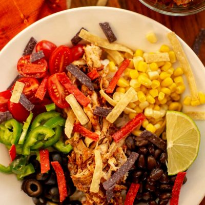 The Easiest Slow Cooker Burrito Bowl Recipe w/ Meal Prep Instructions