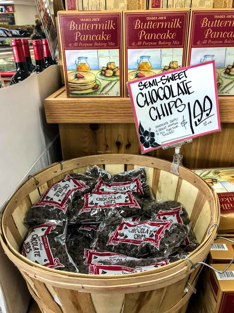 Chocolate Chips at Trader Joes saves a lotto money over big box retailers