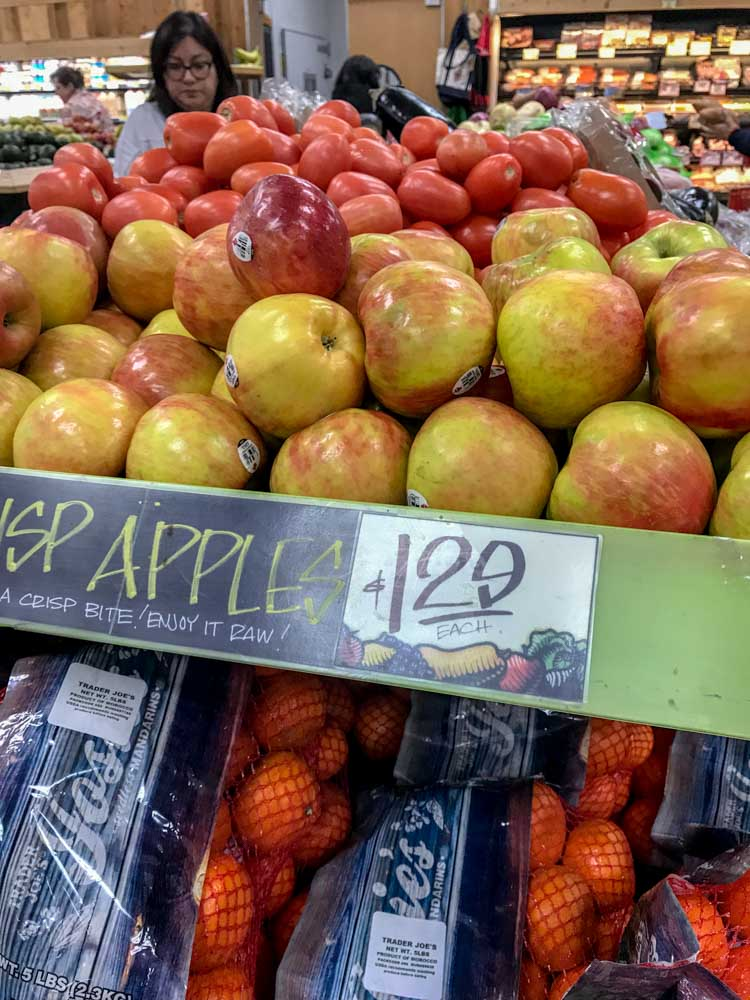Love the large pile of honey crisp apples much less than larger, traditional grocery stores