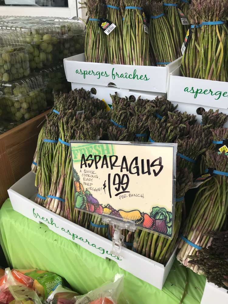 Fresh asparagus is too inexpensive to pass up at Trader Joes