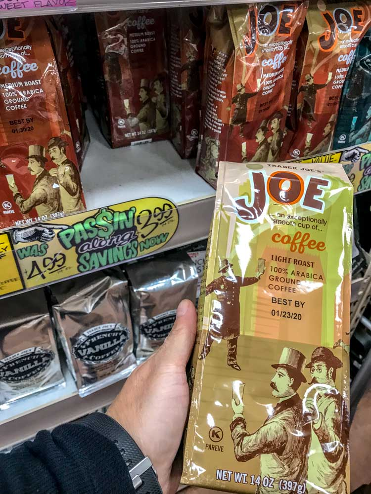 Coffee! A nice bag of Trader Joes store brand is a major cost savings
