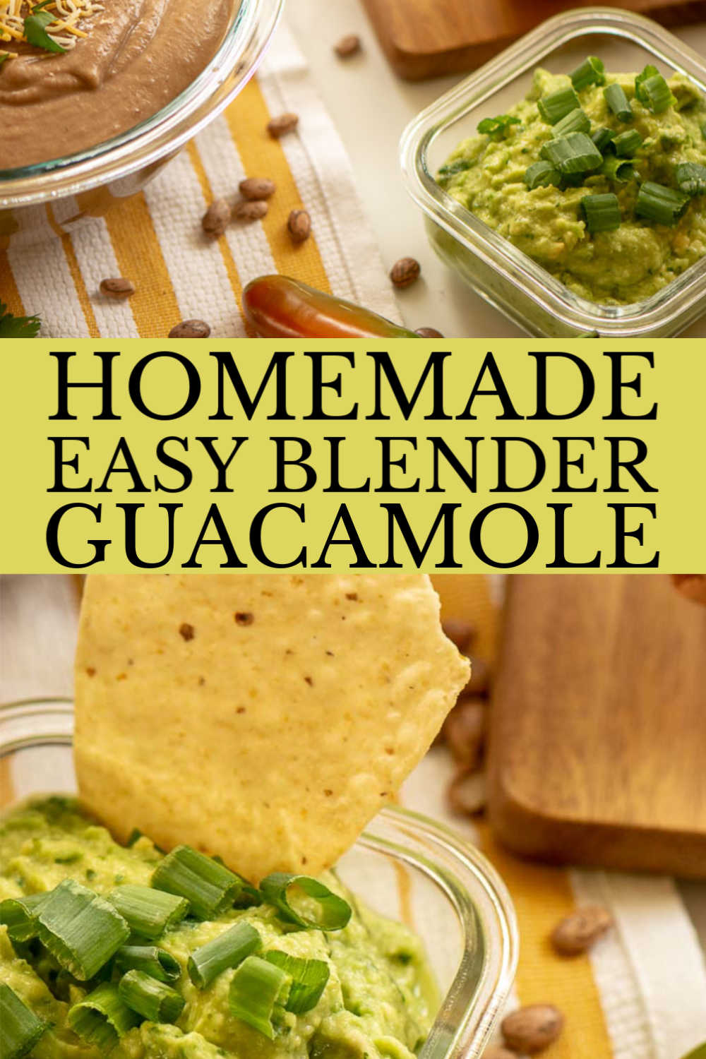 Super Easy Homemade Blender Guacamole #Guac #Guacamole #Avocado